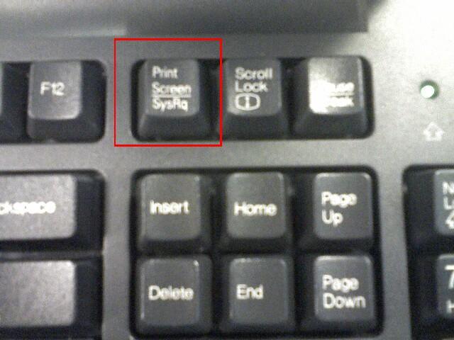 The SysRq/Print Screen key